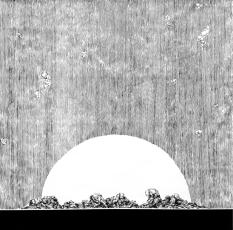 Todavía arde (2017) - Tinta china y acrílico sobre papel - 100 x 100 cm