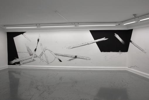 La conspiración - Acrílico sobre muro -174 x 710 cm